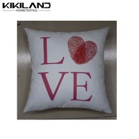 Doll house decoration Valentine's Day custom printing cushion cover