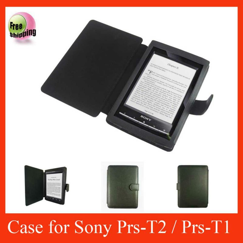 New arrival,Book leather case for Sony Reader PRS-T2,High quality,Fast delivery ----Laudtec