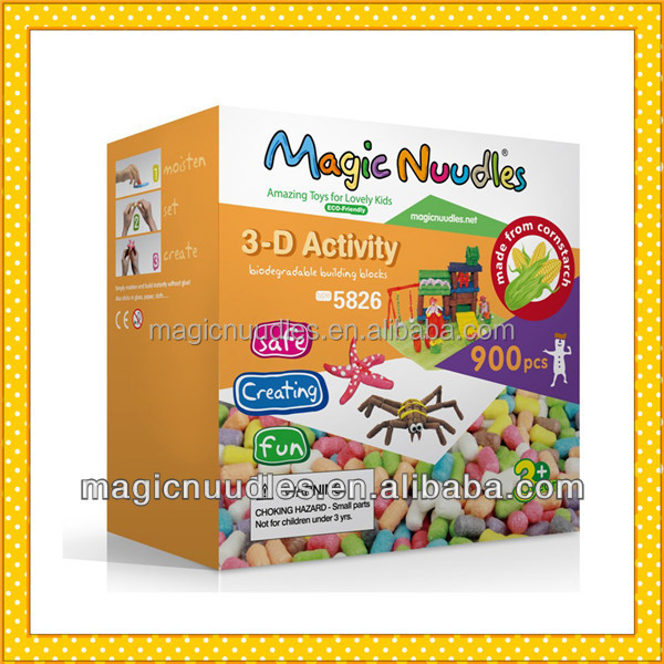 Creaing Handcraft Toy with 5 US Patents Magic Nuudles 6535 with ASTM F963-11,CE,EN71,BPI,94 62 EC