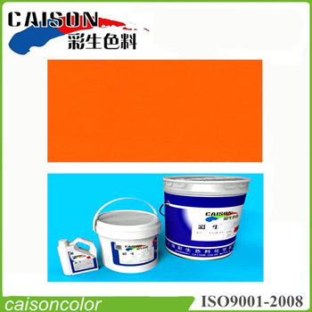 Orange aqueous balloon coating products