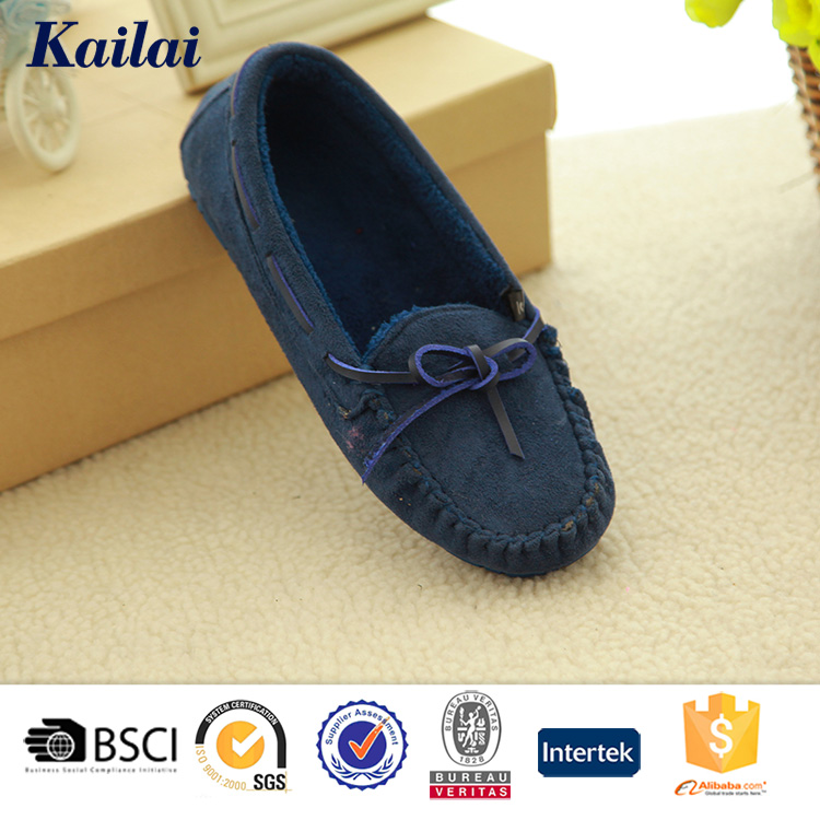 warm blue suede Spring woman shoe