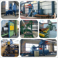 Steel pipe external surface descaling shot blasting machine