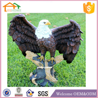 factory Custom made home decoration polyresin large eagle garden statues