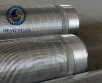 China HengShui 304, 316, 316L stainless steel/low carbon galvanized steel water well mine well water well screen