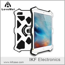 2016 Hot Love Mei MK2 Series Phone Case Metal Aluminum Cover Flip Leather Shockproof Case For iPad Mini 4/iPad Pro