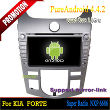 ROM 16GB Quad-core Android 4.4 touch screen car dvd player for Kia Cerato Forte 2008-2012