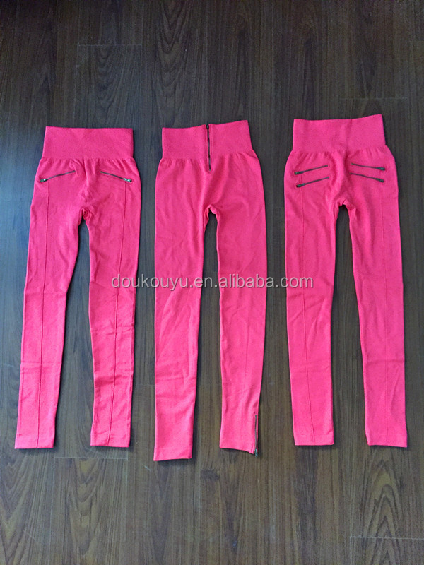 New style fashion of zipper leggings for ladies
