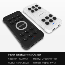 2018 new 8000mAh protable mobile wireless charger power bank