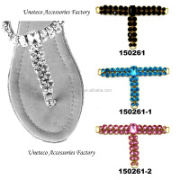 newest design crystal stones metal shoe buckle parts