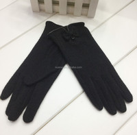 2015 Yiwu wholesale black cashmere gloves mitten for ladies