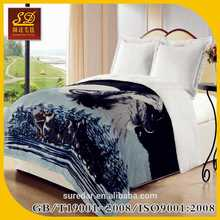 high quality 100% polyester borrego blanket embossed or printed ayam brand
