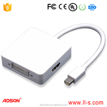 new mini dp displayport to hdmi1.4 dvi vga 3 in 1 up to 1080p high quality mini displayport male to hdmiA dvi vga female