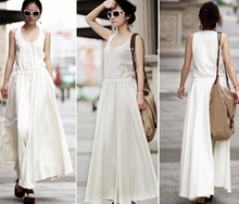 Women casual dresses ankle length designs 2014