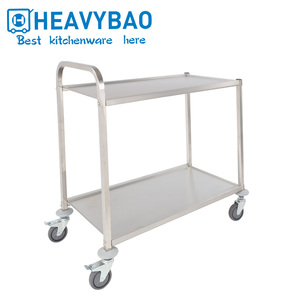 Heavybao Stainless Steel Hotel Room Kitchen Food Serving Trolley Cart