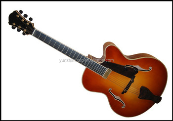 17inch fully handmade solid wood yunzhi archtop jazz guitar