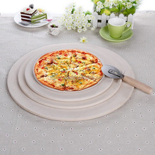 Wholesale pizza pan slate pizza serving baking tray with rack and cutter