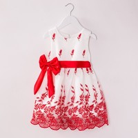 Ages 2-7y 2015 summer new models Kids Belt Lace Vest Dress Princess Girl dress