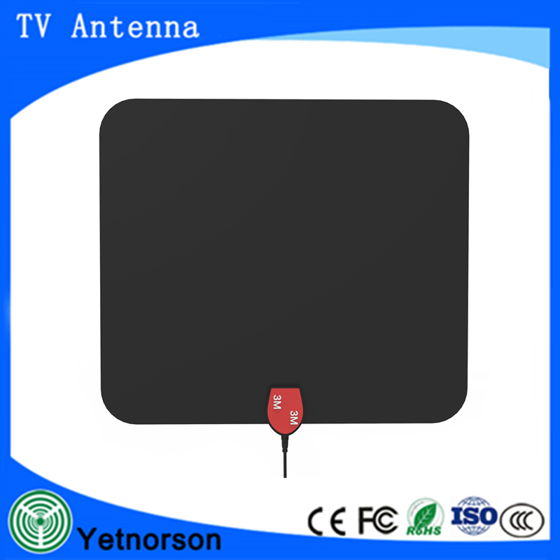 Digital antenna,TV antenna for digital TV indoor,50+ miles range with Detachable Signal Amplifier Booster for 1080P High