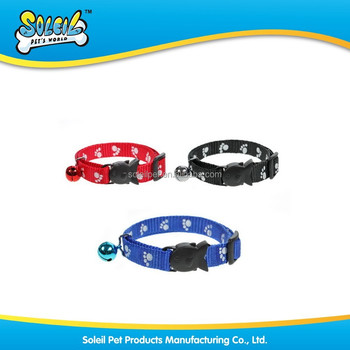 Wholesale Nylon Braided Reflective Pet Collar For Dog