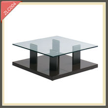 spiral metal glass rising coffee table