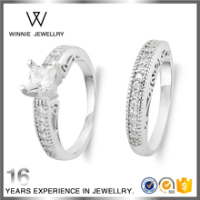 925 Silver CZ Ring Vogue Jewelry Eternity Lovers Wedding Ring For Couples RC0716562179