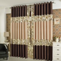 new style embroidered curtain, china fabric curtain,latest curtain styles