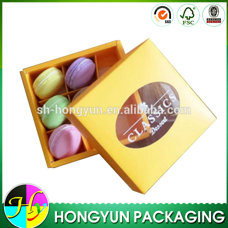 Custom printed cardboard box for donut packing