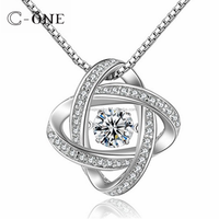 wholesale 925 Sterling Silver brilliant dancing synthetic diamond pendant