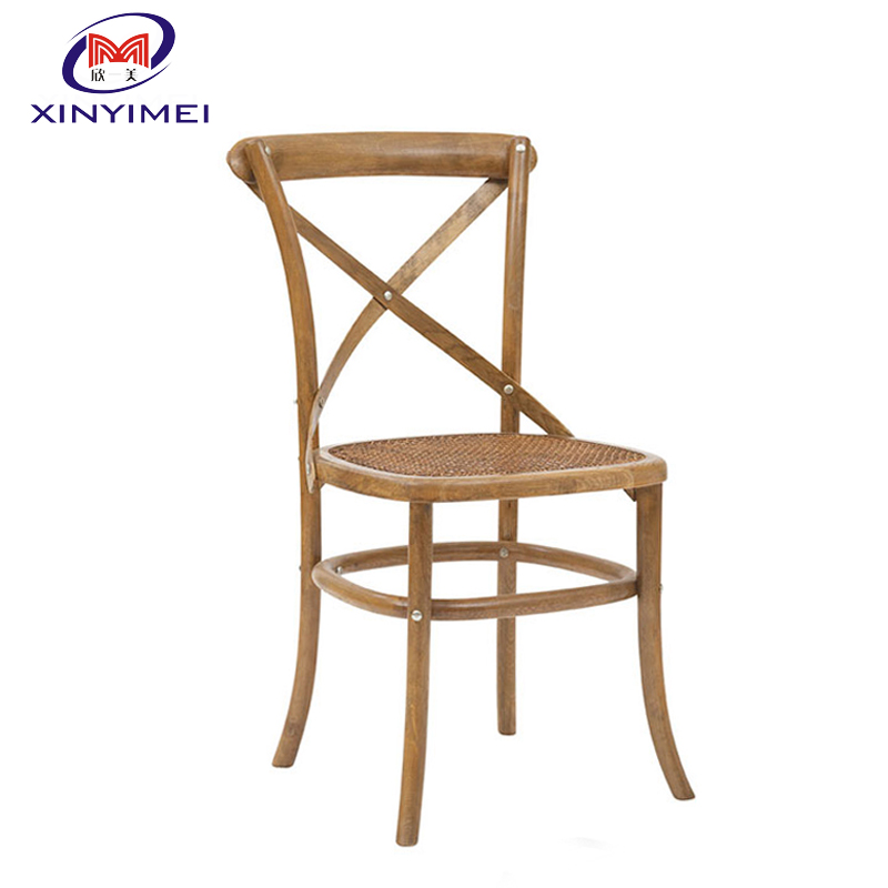 Popular hot sale <strong>oak</strong> wooden cross back dining chair
