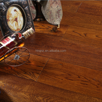 Solid brushed hand scraped European Oak Wood flooring(ABCD grade)