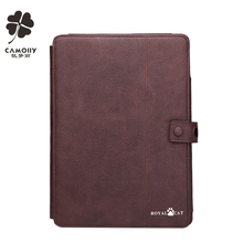 china supplier wholesale brown folio leather case for ipad air 1 / 2 / 3 pro with card holders and stands and photo window