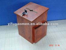 donation/suggestion feedback box wooden