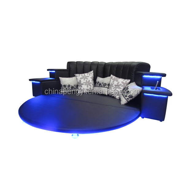 king size round bed,round bed with speaker