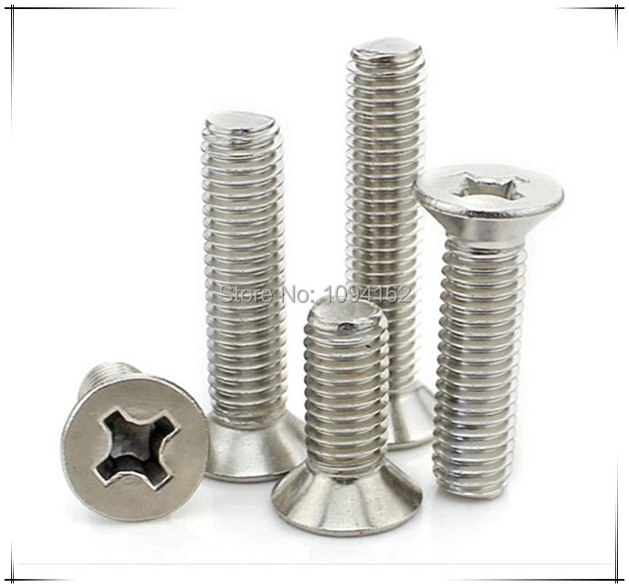 M3*16mm Stainless Steel 304 Philips Flat Coutersunk Head Machine Screw 100pcs/lot