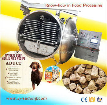 Commercial vacuum freeze dryer for dog, cat food & LG30 freeze drying dog food machine