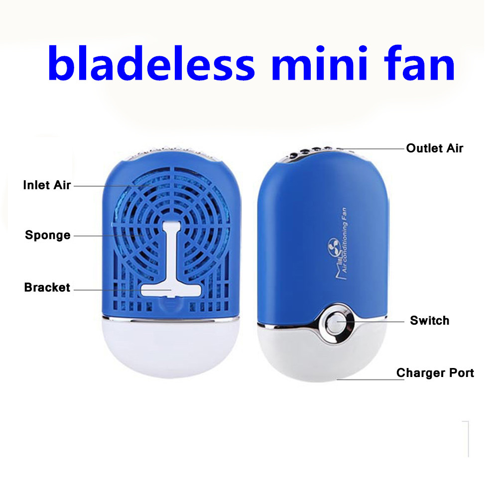 Alibaba Express Rechargeable Air Conditioning Bladeless Fan, Nail Eyelashes Dryer Fan