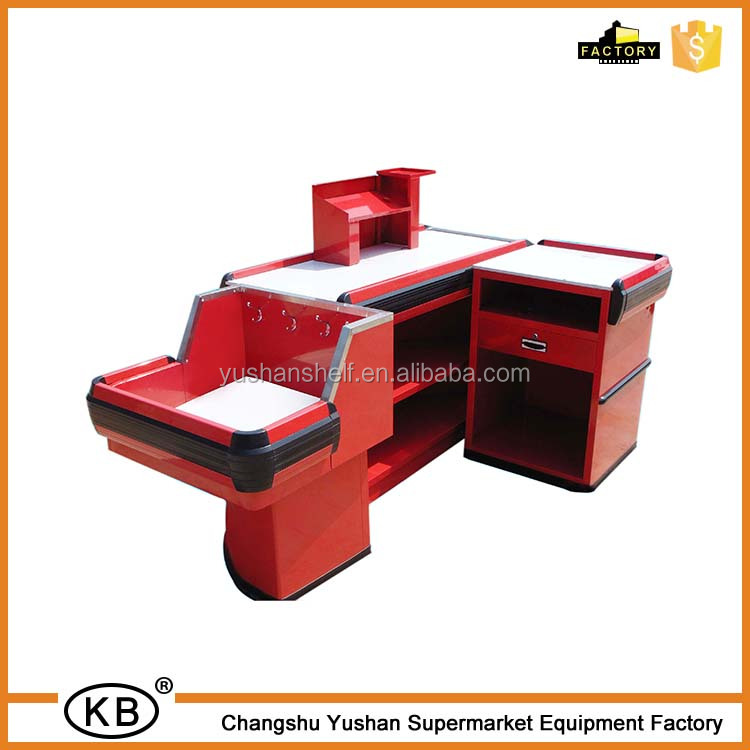 Shopping Mall Cash Desk Supermarket Checkout Counter For Sale