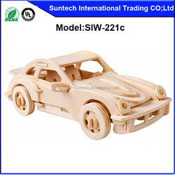 3D DIY TOY Wood Puzzle,Car