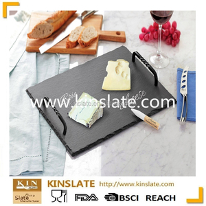 Best selling rectangle slate cheese tray for bread