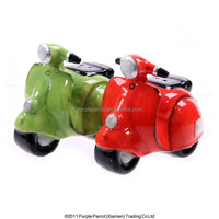 Ceramic Retro Italian Scooter Salt and Pepper Shaker Set