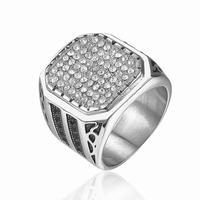 Men 316l stainless steel diamond ring price in india