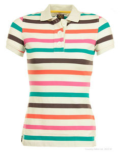 Ladies strip tshirt custom new design polo t shirt