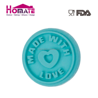 Heart shape popular silicone cookie stamp