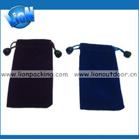 Wholesale environmental protection velvet pull sling mobil bags