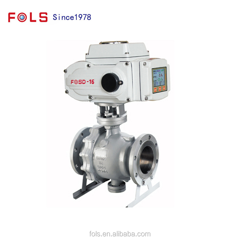 Electric regulating control trunnion ball valve DN250