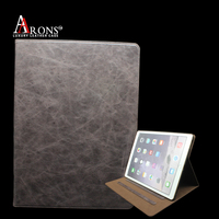 For ipad pro smart belt case genuine leather protective flip case cover