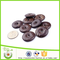 30mm natural brown color lucky coin shape exquisite coconut shell custom good luck talisman for charm accessory
