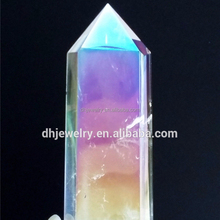 Wholesale natural angel aura quartz crystals point