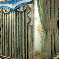 Elegant Nine Needle Jacquard Thick Chenille Curtain For Windows