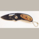Tatical survival folding mini pocket knife with wood handle